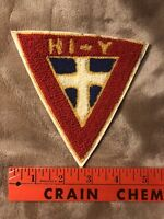 Quite Vintage YMCA HI-Y Chenille Patch 91W1