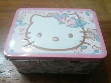 2005 Sanrio Hello Kitty Pink Tin Mini Lunch Box - Used