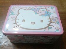 2005 Sanrio Hello Kitty Pink Tin Mini Lunch Box - Used
