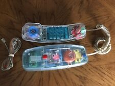 Vintage Retro Clear Phone Bell South Model 430 Tested Lights Up Rings Works