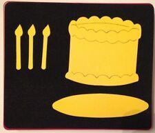 Sizzix Large Red Original Die Cutter ~ BIRTHDAY CAKE #2 ~ Card Scrapbook Candles