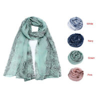 Women Lady Ethnic Style Voile Print Scarf Scarves Sun Protection Gauze Kerchief