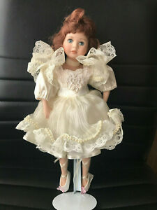"""Leonardo Collection Porcelain Doll 17"""" tall with Stand Collectable """" Michelle"""""""
