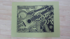 Hardly Strictly Bluegrass Poster 2016 San Francisco Signed Numbered Hand Printed