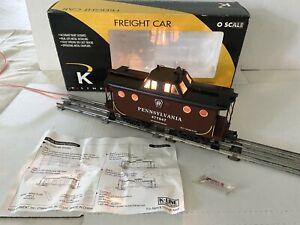NEW K-LINE TRAIN-PENNSYLVANIA PRR N5C CABOOSE W/SMOKE & LIGHTS-K615-1891 O-SCALE