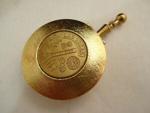 "Nice Vintage Las Vegas ""Golden Strip"" Souvenir Pocket or Purse Portable Ashtray"
