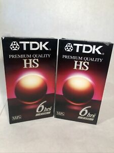 2 Pk Blank VHS Tapes Cassettes TDK T-120 Premium Quality 6 Hours T-120HS Sealed