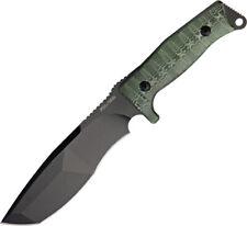 "Fox Trapper 12"" Green & Black Micarta Handle Fixed Blade Knife w/ Sheath 132MGT"