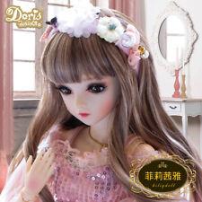 XMAS GIFT 1/3 BJD Doll Ball Jointed Girl Eyes Face Makeup Wig Clothes Full Set