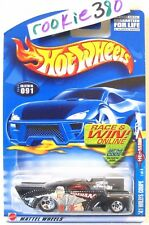 2002 Hot Wheels HE-MAN #91 ∞ '41 WILLYS COUPE ∞ BLACK RAMMAN