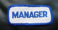 "MANAGER SEW ON PATCH EMBROIDERED UNIFORM NAME 3 1/4"" x 1 1/2"""