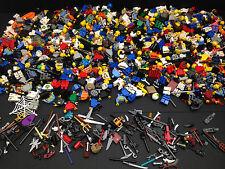 5 non corrispondenza LEGO MINIFIGURES / gambe tronco testa con capelli, Cappelli e Accessori