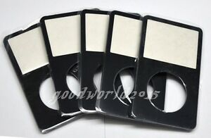 5pcs black Front Faceplate Housing Case Cover for iPod 5 5.5th Video 30GB 80GB