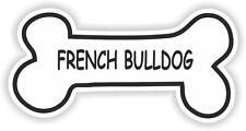 FRENCH BULLDOG BONE STICKER BREED NAME DOG FOOD BOWL PUPPY PET VINYL DECAL