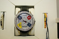 JACOB & CO 47MM JC-58 DIAMOND ACCENT DIAL  BOX & PAPERS WITH 3.25 CARAT BEZEL