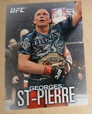 Georges St-Pierre 2012 Topps Knockout UFC Card #100 Championship Belt 158 111 79