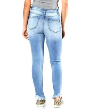 Buckle KanCan Womens 25 x 27 High Rise Skinny Blue Ankle Ripped Denim Jeans