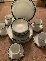 Vtg 25 Pc 5 Place Setting Caravel By Excel Dinnerware Set