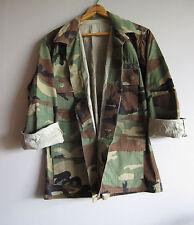 Vintage Camo Jacket Shirt Camouflage Military Marines Used BDU Small