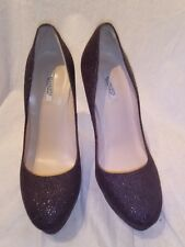 All saints ladies burgundy sparkle shoes uk 37.5