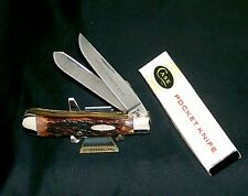 Case XX 6254 Knife Second Cut Stag Trapper 1984 Tested XX Razor Edge W/Packaging