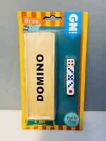 Retro Domino Set, Family Board Game With Dice Set Classic Entertainment Orginal