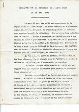 Memorandum sur la Reddition de l'armée BELGE du 28/05/1940