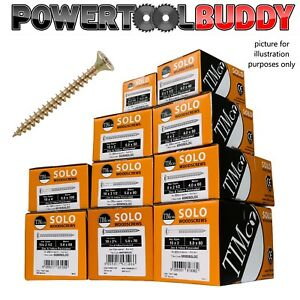 Timco 5.0 x 60mm Solo Zinc & Yellow Chipboard Screws, Trade Outer 3,200 Screws