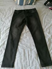 Ladies F&F Black Jeggings Size 16