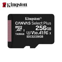 NEU Kingston 256GB MicroSD SDXC C10 UHS-I A1 Speicherkarte mit Adapter 100MB/s