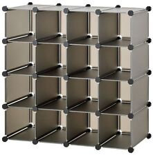Store Rack 16 Units Stacks can Separate Into Blocks Storage Organiser Shelf
