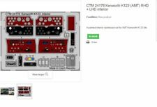 KENWORTH K123 (AMT/ERTL KITS) INTERIOR RHD OR LHD