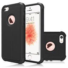 For iPhone SE 5s 5/SE 2 Shockproof Hybrid TPU Ultra Slim Hard Bumper Case Cover