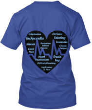 Blue Dysautonomia Heart Symptoms - Awareness Hanes Tagless Tee T-Shirt