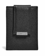 New Men's Guess Los Angeles Black Leather Hobart Card Case Fast Free Ship