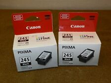 TWO New Genuine Canon 245 Black Ink Cartridges PIXMA - X1 Open Box
