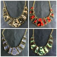 Statement Collar Chain Vintage Irregular Geometric Chunky Bib Necklace Pendants
