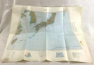 1939 WW2 Military Map of Japan Asia Kyushu Far East MOD Allied War Office Issue