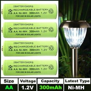 AA 300mAh 1.2v NiMH Rechargeable Solar Light Batteries For Outdoor Garden Lights