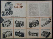 Stereo Camera Review 1953 pictorial Busch Realist Iloca