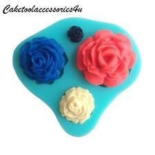 Rosa, Fiore Stampo In Silicone Decorazione Torte Pasta Di Zucchero Ripieno
