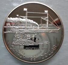 1991 CANADA PROOF FRONTENAC SILVER DOLLAR COIN - A
