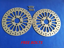 "11.8"" Front Brake Rotor Dual Disc Super Spoke Polished 2008-2013 Harley Touring"