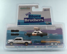 Blues Brothers Dodge Monaco 1974 Bluesmobile / RAM 105 Flatbed Trailer 1:64