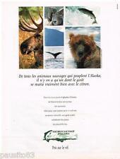 PUBLICITE ADVERTISING 095  1991  le SAUMON SAUVAGE D'ALASKA