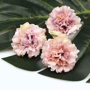 "15Pcs Lavender Artificial Silk Small Peony Flowers Heads 2.2"" Craft Home Decor"