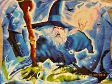 "Wizard with Lightning, Merlin 44"" x 44"" Giant Tapestry"