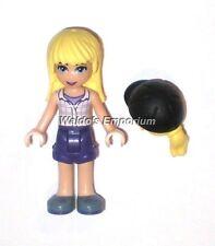 Lego Friends MiniFigure STEPHANIE w/ Dk Purple Shorts & Plaid Shirt , 41126, New