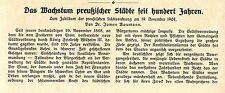 Dr.J.Baumann Zum Jubiläum der preußischen Städteordnung Histor.Memorabile v.1908