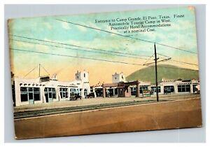 Vintage 1934 Postcard Camp Grande Automobile Tourist Camp El Paso Texas